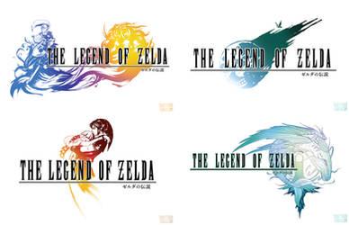 Final Fantasy x Legend of Zelda Logos Cross Over