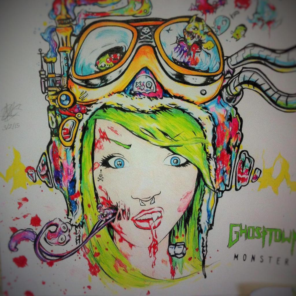 Ghost Town Monster Girl Drawing By DaniBear509 On DeviantArt