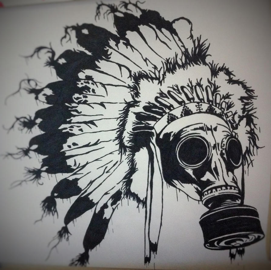 Bear headdress drawing - photo#14