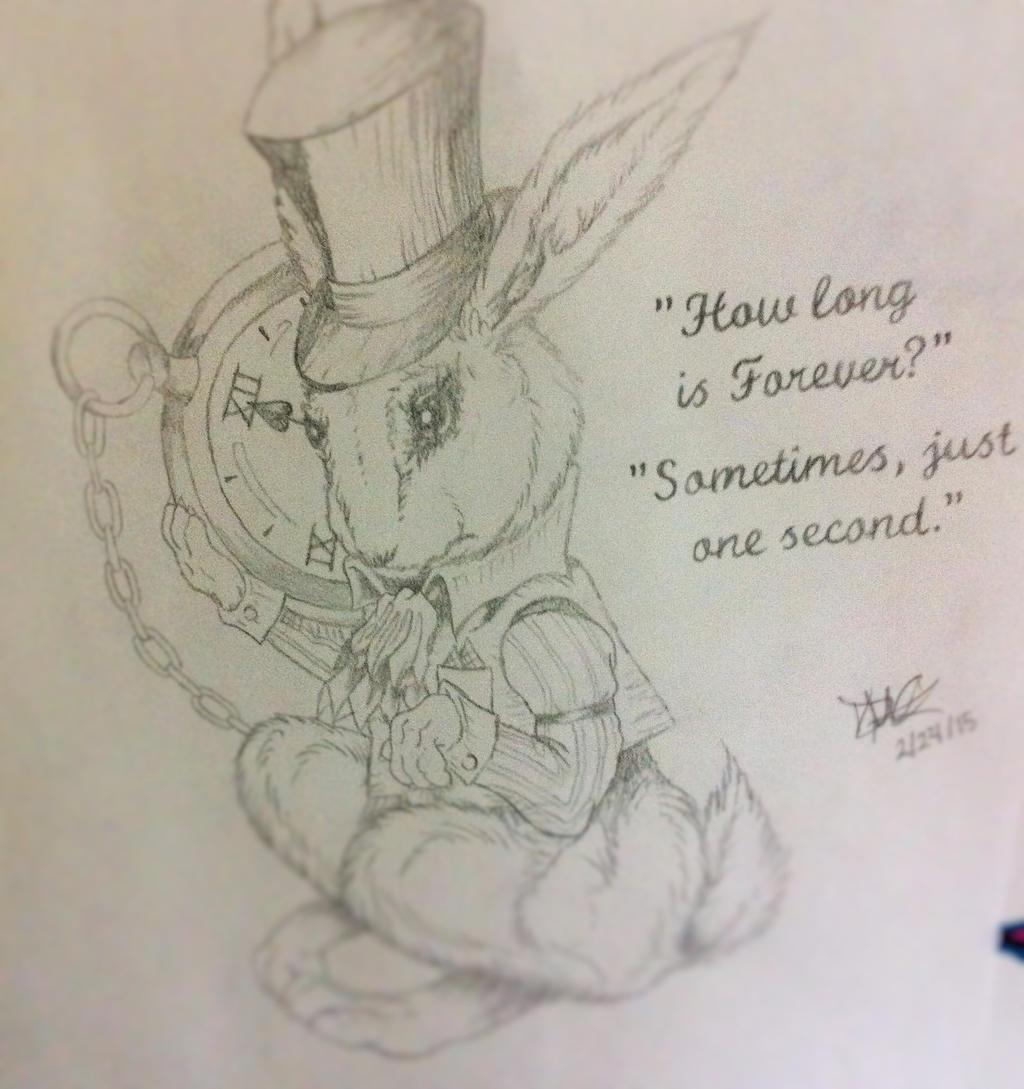 Alice In Wonderland White Rabbit Drawing By Danibear509