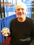Christopher Lloyd with little Doc Brown