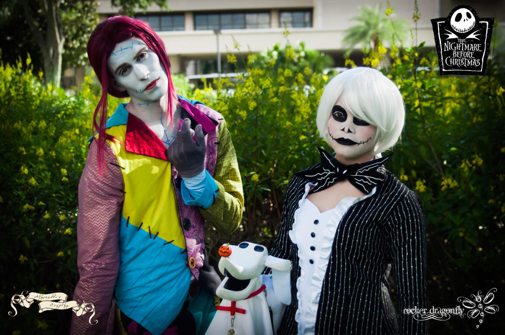 A Skellington and a Rag Doll . . . by RockerDragonfly