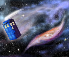 That Lonely Galaxy - Dr. Who TARDIS by Esaki