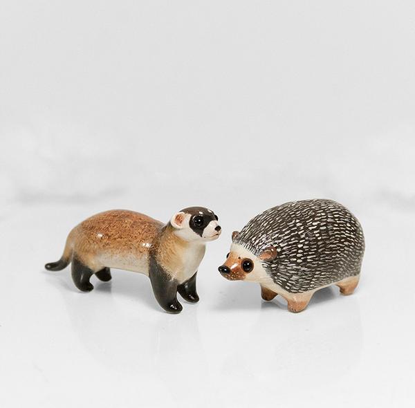 Ferret + Hedgehog Animal Totems by RamalamaCreatures