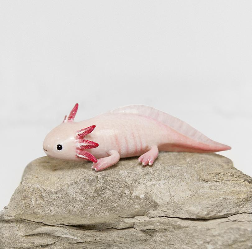 Axolotl Figurine by RamalamaCreatures