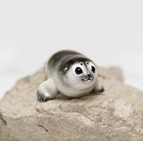 Baby Seal Figurine by RamalamaCreatures