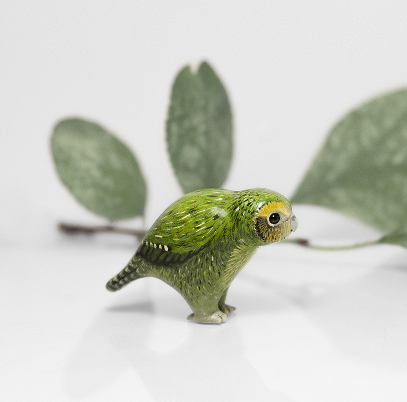 Kakapo Parrot Figurine by RamalamaCreatures on DeviantArt