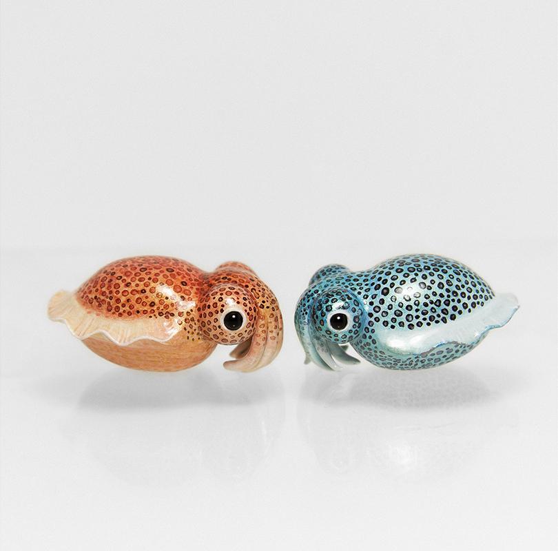 Bobtail Squid Figurines by RamalamaCreatures