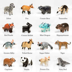 Animal Figurines by RamalamaCreatures