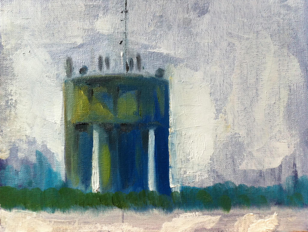 Water tower colour study