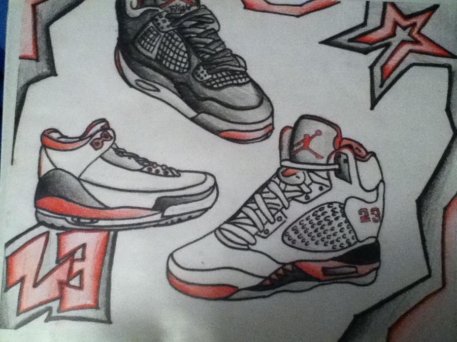 pretty nice c60d9 f5535 Air Jordans Drawings! by Chino1996 ...