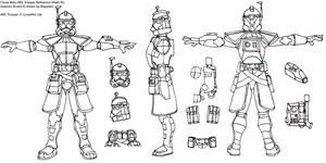 Arc Trooper Template by Blayaden