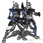 ARC Troopers Echo and Fives Colored