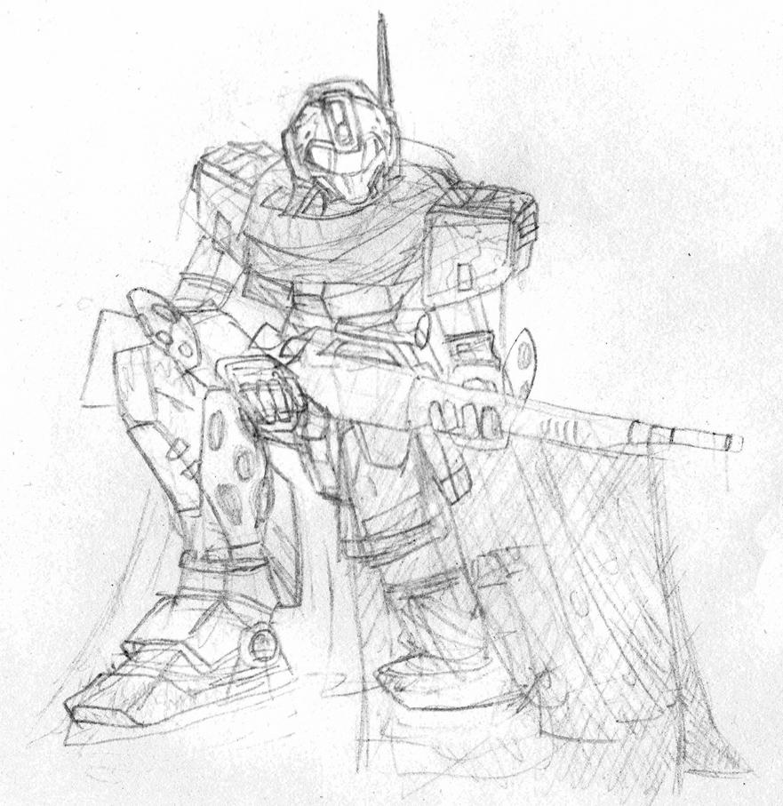 GM Sniper II Camo sketch by Blayaden