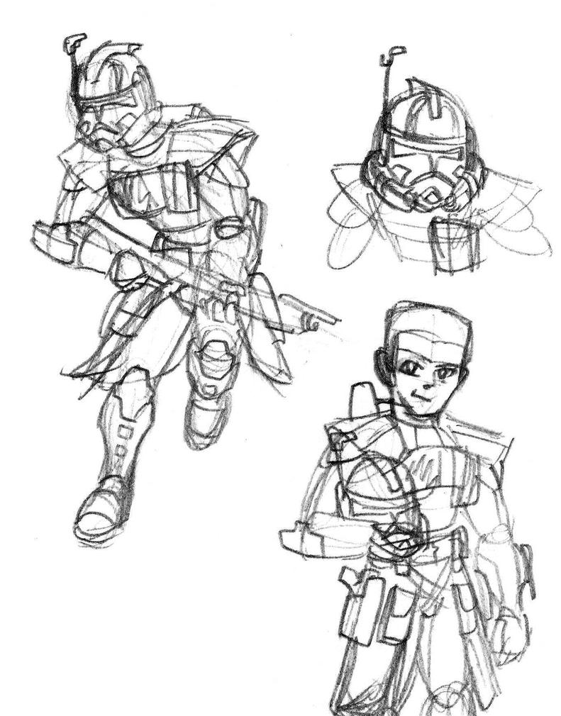 Echo practice sketches by Blayaden