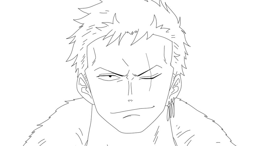 One Piece Lineart : Lineart one piece roronoa zoro punk hazard by