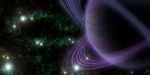 green space, purple planet