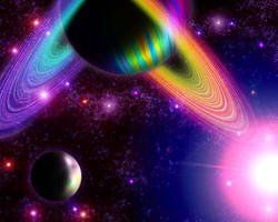 Rainbow Gas Giant of Doom by Dragon-Hacker
