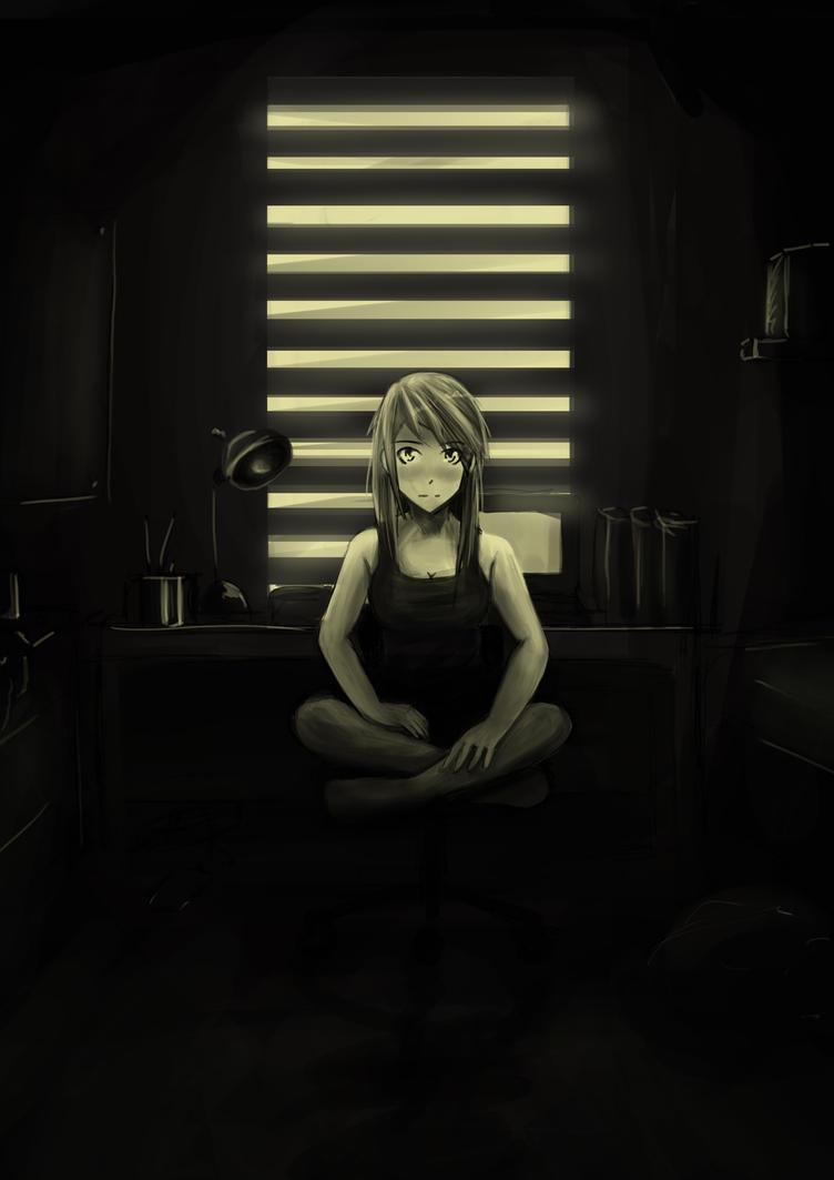 Lain's room by Binngi