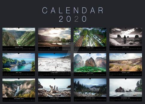 Calendar 2020 USA Roadtrip