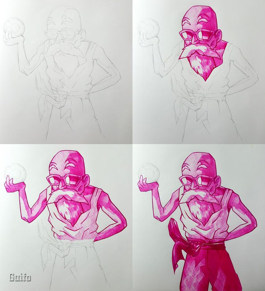 Roshi-Inked Sketch by NeoXVl