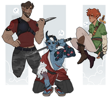 [ Adopts $] Sword gang [CLOSED] by Reiki-kun