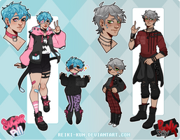 [Adopts $] Sugar Pill+Shy Punk [CLOSED] by Reiki-kun