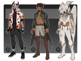 [Adopts$] Patreon batch - big boys 2.0 by Reiki-kun
