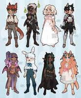 [Adopts$] Fantasy bbys! [1/8 OPEN ] by Reiki-kun