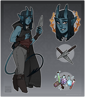 [ Adopts $ ] Tiefling [AUCTION | CLOSED ] by Reiki-kun