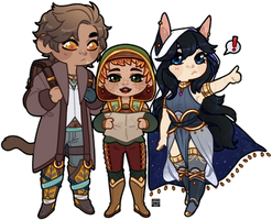 [$] Chibis for Tupe-lo by Reiki-kun
