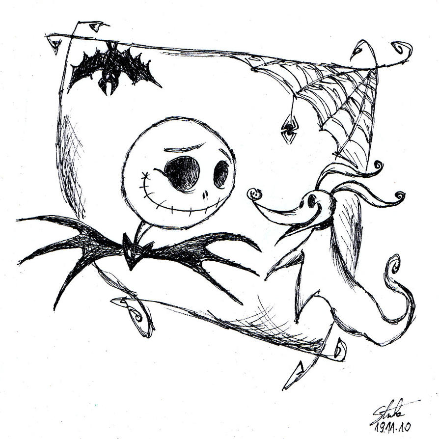 Nightmare before christmas zero coloring pages