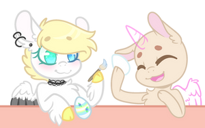 Egg Painting COLLAB by KittieBases
