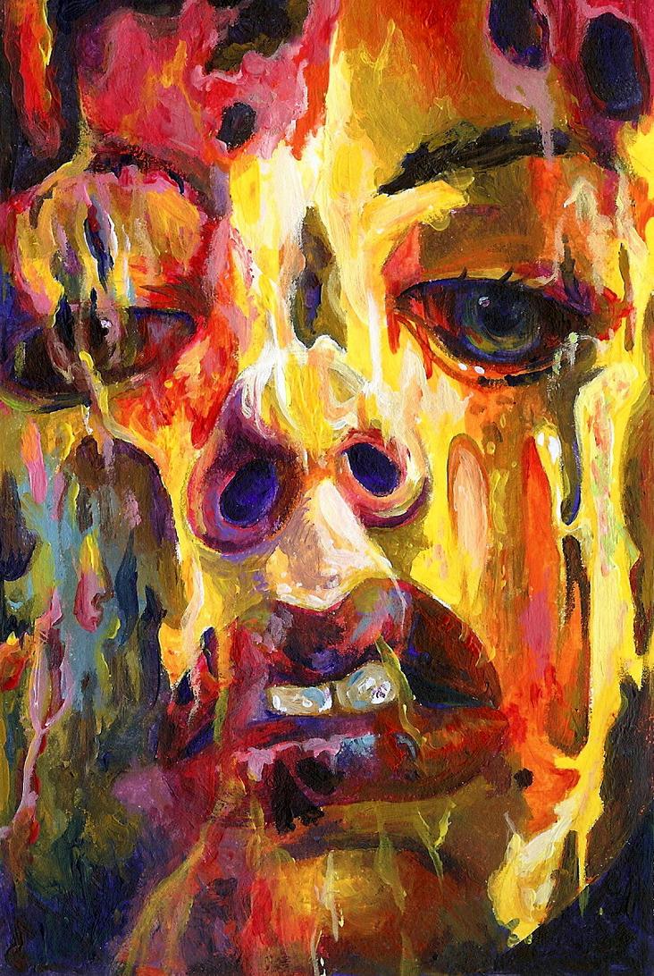 Twitter Art Exhibit Painting by revonthem