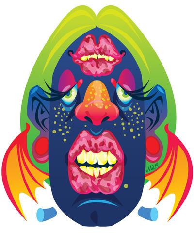 Franken BatFace Sticker by revonthem