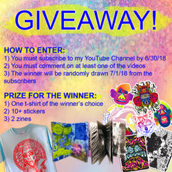 YouTube Giveaway Rules! Now Thru 06 30 2018