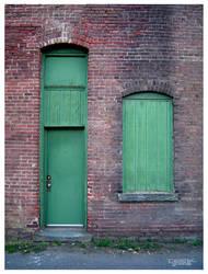 green door in Steamtown by CapnDeek373