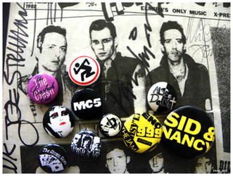 pins of punk by CapnDeek373