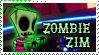 Zombie Zim stamp by CapnSkusting