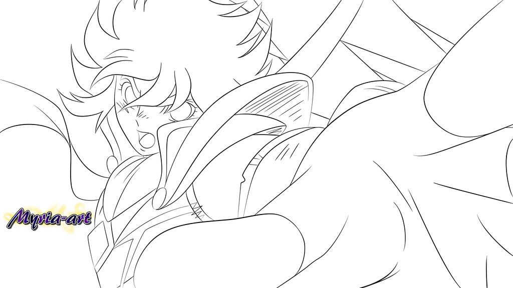 Seiya [Lineart] by Myria-Art