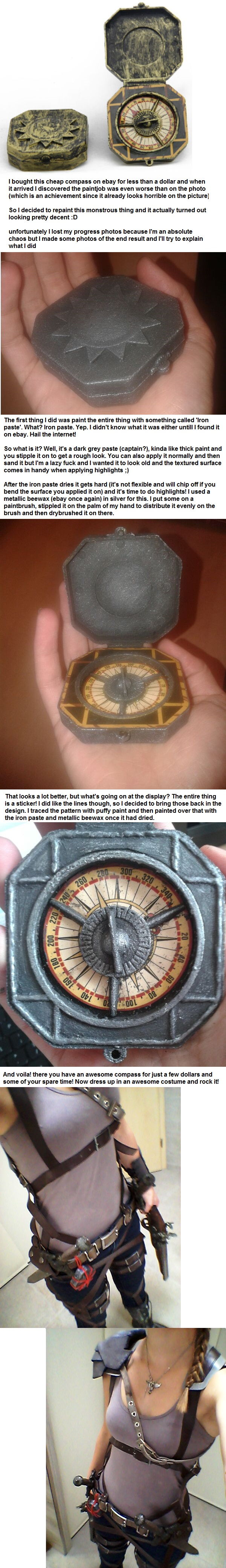 DIY: Turn a $1 toy compass into awesomeness! by Locosplay ...