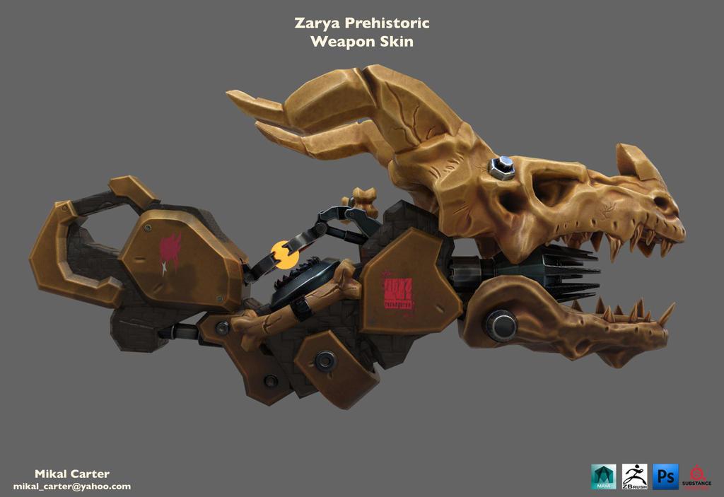 Zarya Dragon Weapon Skin by MugetsuDragon