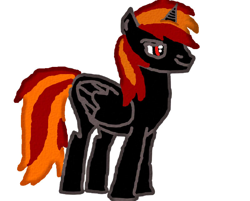 First SAI drawing ever: my Pony OC: Magma Blitz by ZomibeSlayer117