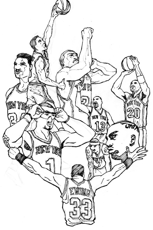New York Knicks Coloring Pages Coloring Pages