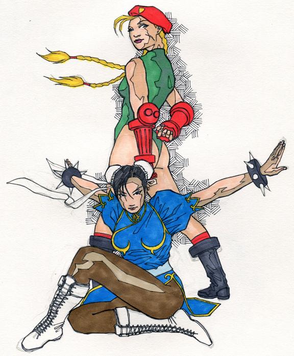 Chun Li and Cammy by jerryma