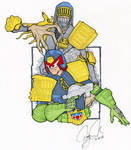 Judge Dredd and Judge Death