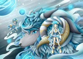 Zodiac of blue x white Ariess by LCFxAlvin