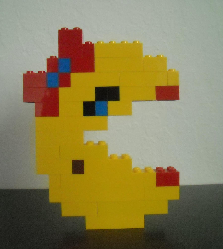 Ms. Pacman - LEGO Sculpture by Loserkid5150 on DeviantArt