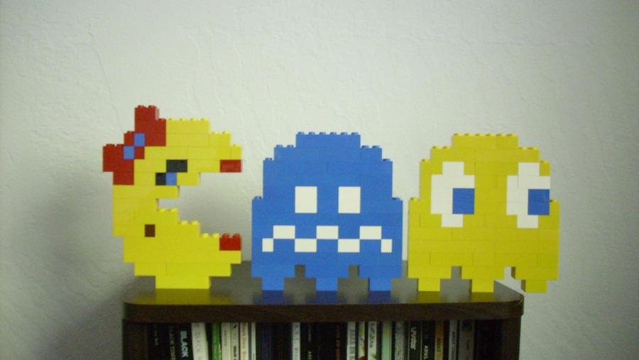 Pacman Ghosts - LEGO Sculpture by Loserkid5150 on DeviantArt