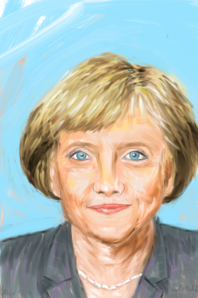 Angela Merkel by senornico